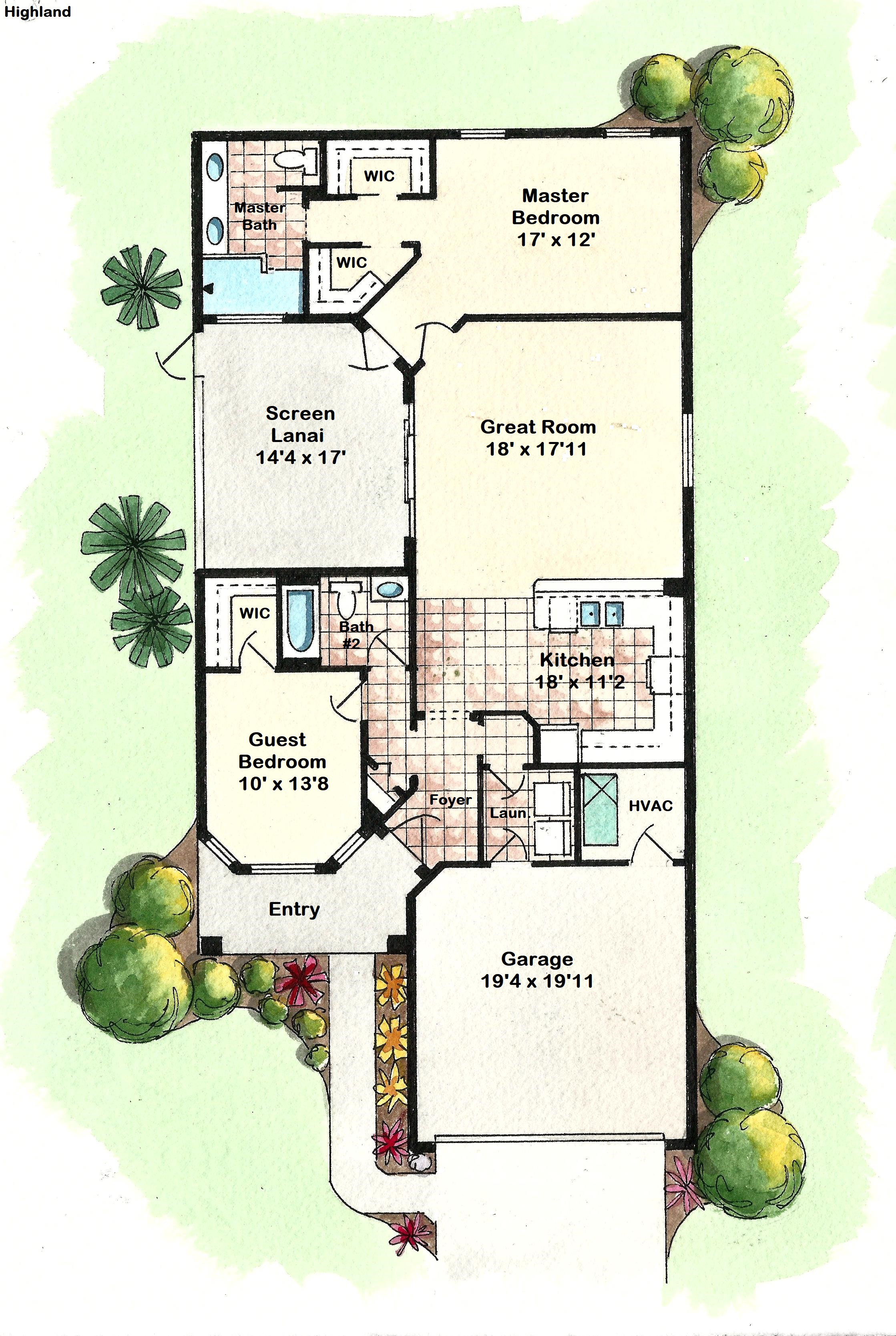 Highland - Floor Plan
